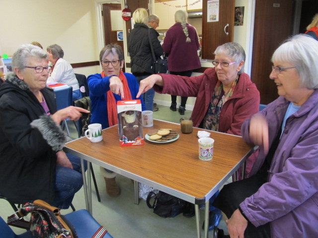 Pam, June, Jenny & Dawn - Ladies from Prescott House catch up over coffee