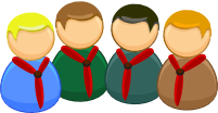 An icon of the group sections (a Beaver,Cub,Scout and Explorer)